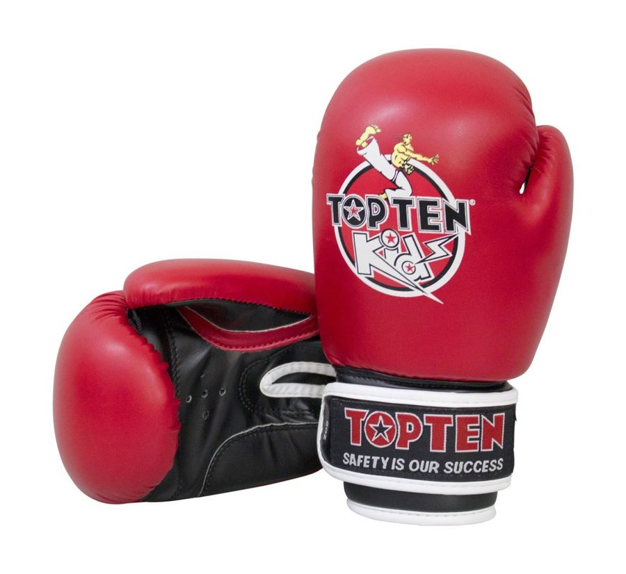 Červené boxerské rukavice Top Ten - velikost 8 oz