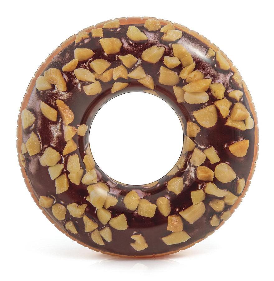 Hnědý dětský nafukovací kruh Donut INTEX