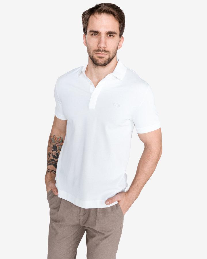 Bílá pánská polokošile s krátkým rukávem Lacoste - velikost XXL