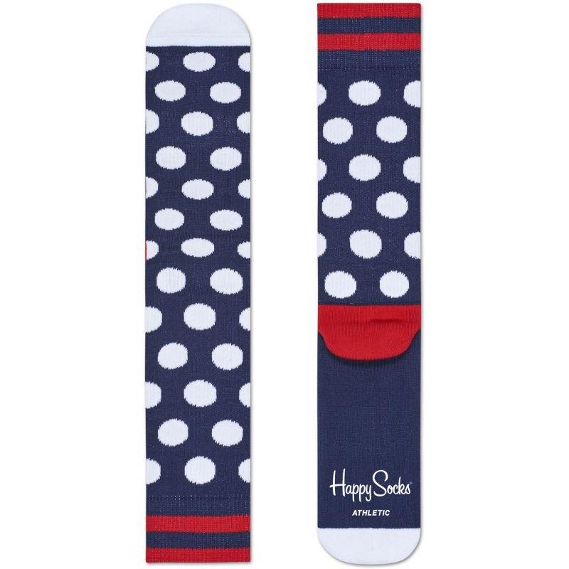 Ponožky - PONOŽKY HAPPY SOCKS ATHLETIC BIG DOT - modrá - 41/46