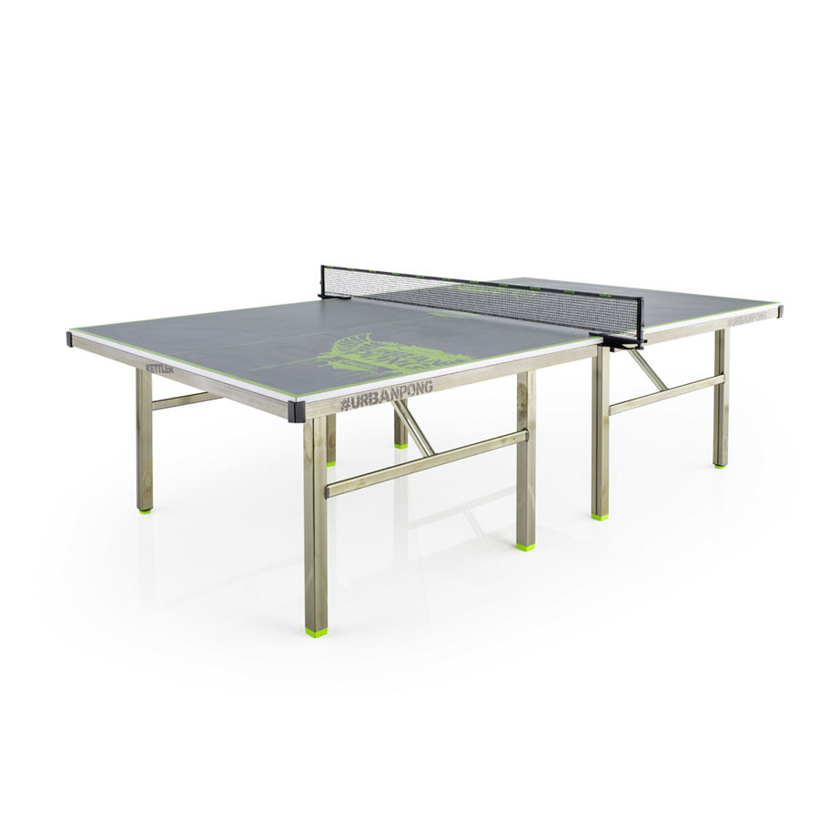 Šedý venkovní stůl na stolní tenis URBAN PONG EMPIRE, Kettler