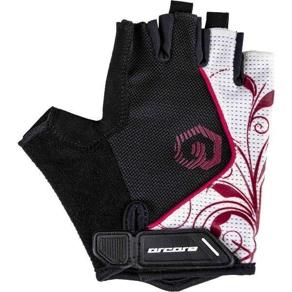 Bílo-černé cyklistické rukavice Arcore