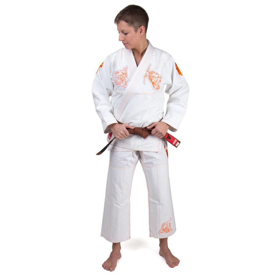 Kimono na jiu-jitsu - Fighter BJJ Kimono Ryby - bílá - velikost A2