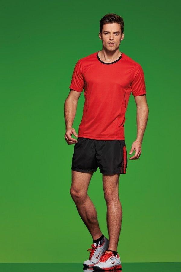 Šedé pánské běžecké tričko JN472, James & Nicholson - velikost M