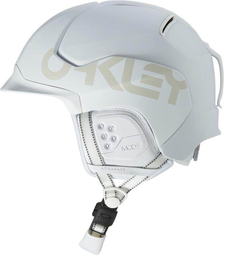 Bílá pánská helma na snowboard Oakley - velikost 51-55 cm