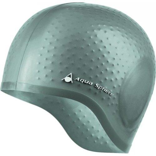 Stříbrná dámská nebo pánská plavecká čepice Aqua Glide, Aqua Sphere