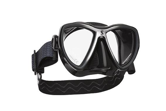 Potápěčská maska - Maska potápěčská Synergy Mini Scubapro - designová maska - černo/stříbrná - černá