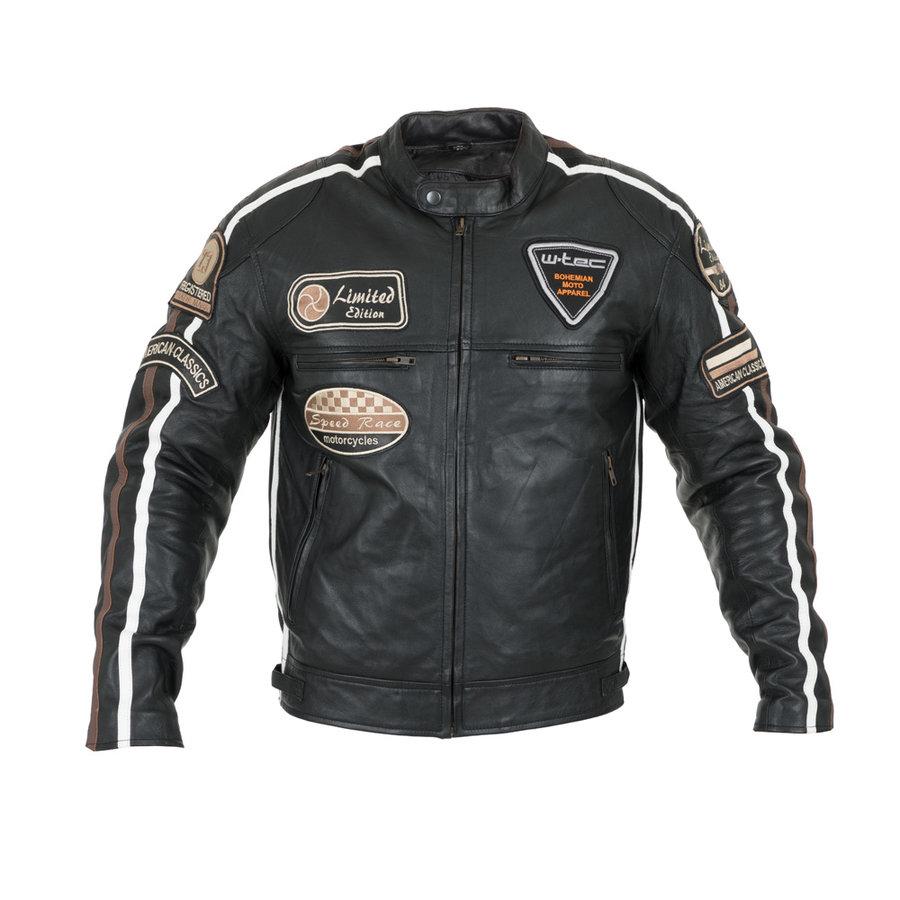Černá pánská motorkářská bunda Sheawen, W-TEC