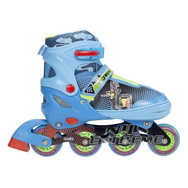 Modré dětské kolečkové brusle Nils Extreme