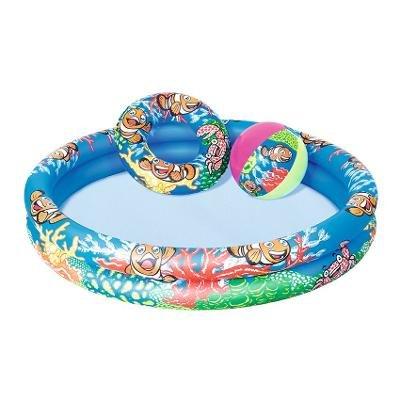 Dětský nafukovací nadzemní kruhový bazén Bestway - průměr 122 cm a výška 20 cm