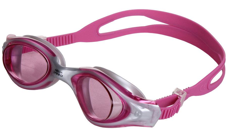 Růžové plavecké brýle Leader, Aqua-Speed