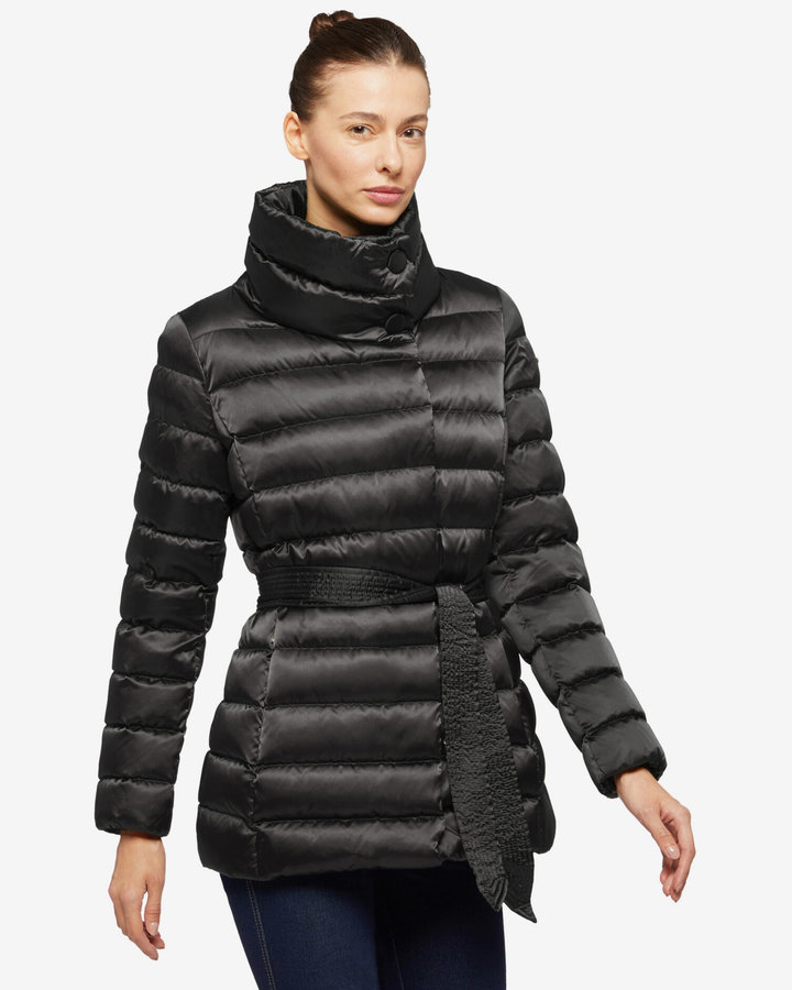 Černá zimní dámská bunda Geox