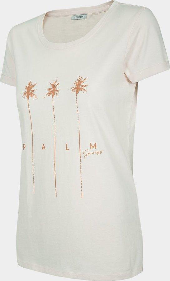 Růžové dámské tričko s krátkým rukávem Outhorn