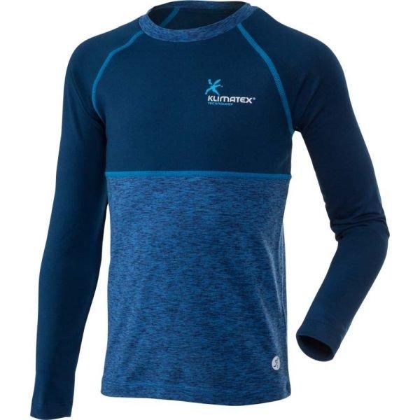 Modré dětské funkční tričko s dlouhým rukávem Klimatex