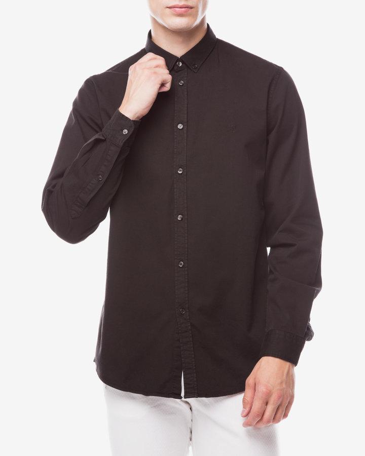 Černá pánská košile s dlouhým rukávem Trussardi Jeans