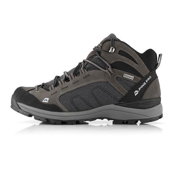 Šedé nepromokavé trekové boty Alpine Pro