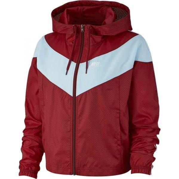 Bílo-červená dámská bunda Nike