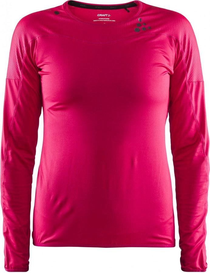 Růžové dámské funkční tričko s dlouhým rukávem Craft