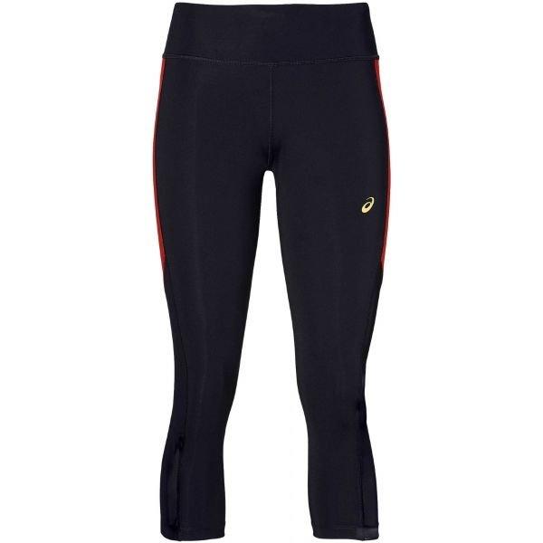 Černé 3/4 dámské běžecké kalhoty Asics