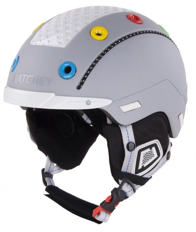Šedá dětská lyžařská helma Hatchey - velikost 50-54 cm