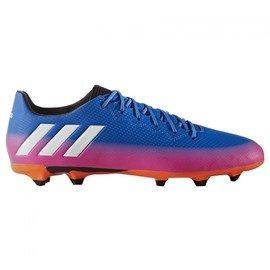 Fialovo-modré kopačky lisovky Messi 16.3 FG, Adidas