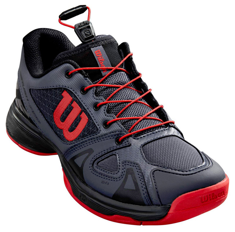 Černo-červená pánská tenisová obuv Rush Pro QL, Wilson