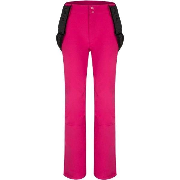 Růžové softshellové dámské kalhoty Loap
