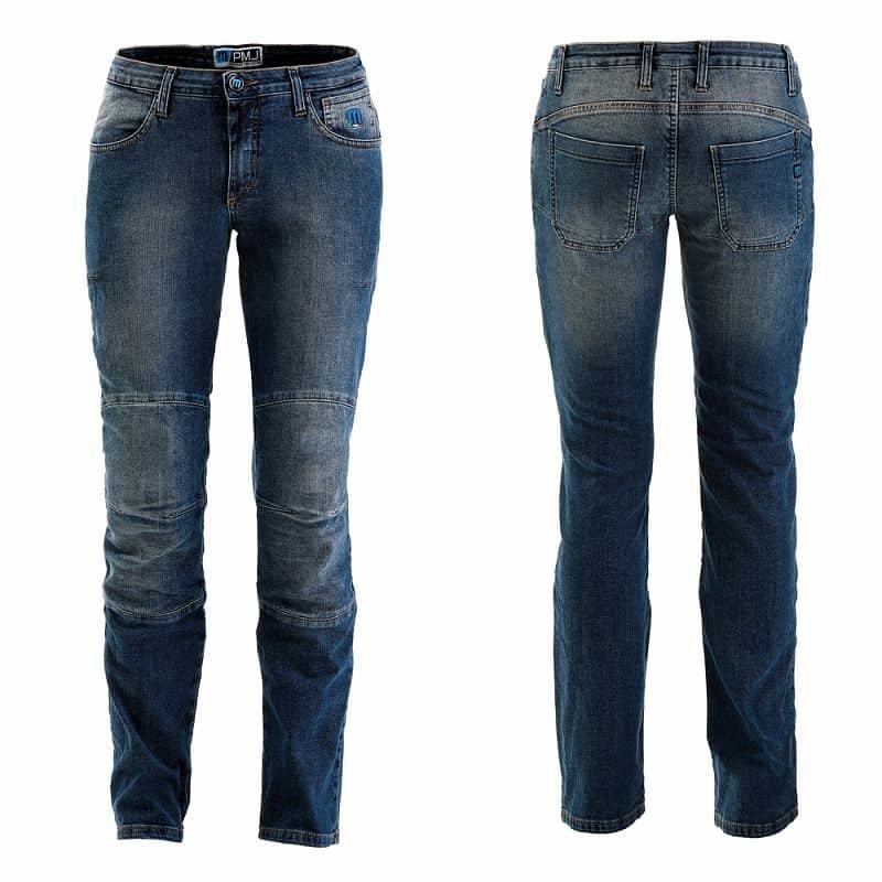 Modré dámské motorkářské kalhoty Carolina, PMJ Promo Jeans