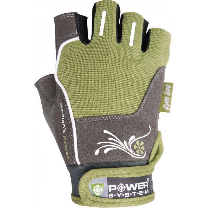 Zelené dámské fitness rukavice Power System - velikost XS