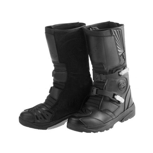 Černé vysoké pánské motorkářské boty Adventure 2.0, Kore