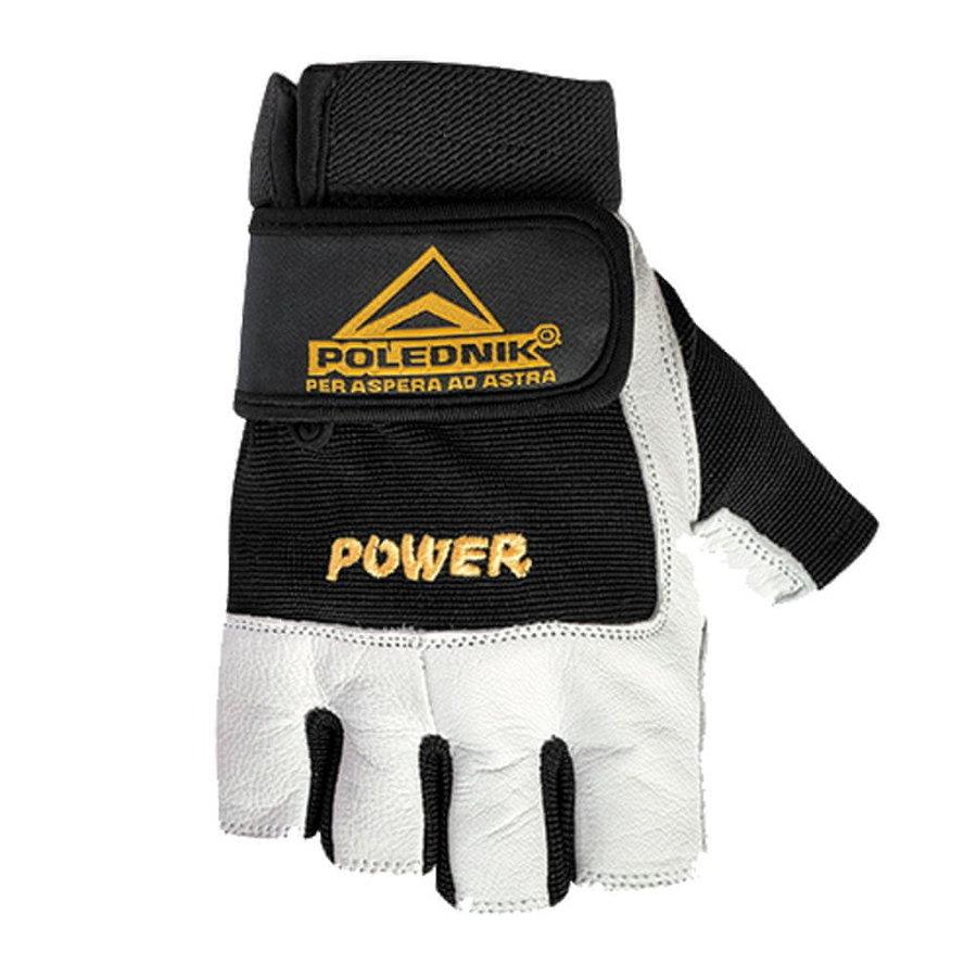 Bílo-černé fitness rukavice Polednik
