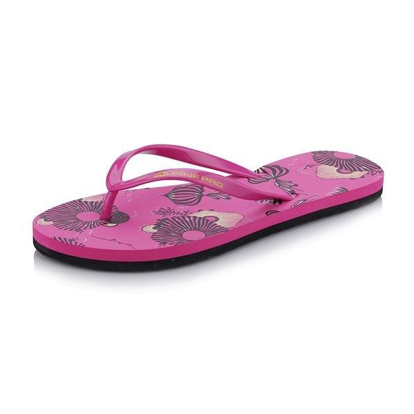 Růžové dámské žabky Alpine Pro