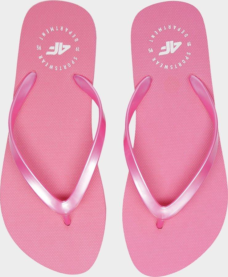 Růžové dámské žabky 4F