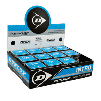 "Černý míček na squash ""modrá tečka"" Dunlop - 12 ks"