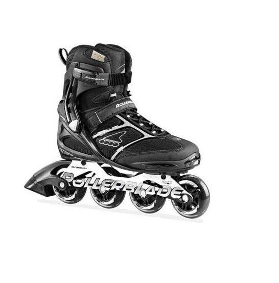 Černo-šedé fitness kolečkové brusle Rollerblade - velikost 42,5 EU