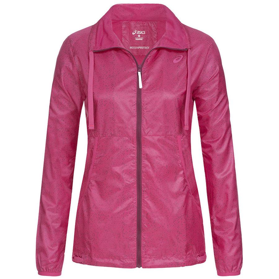 Růžová sportovní dámská bunda Asics