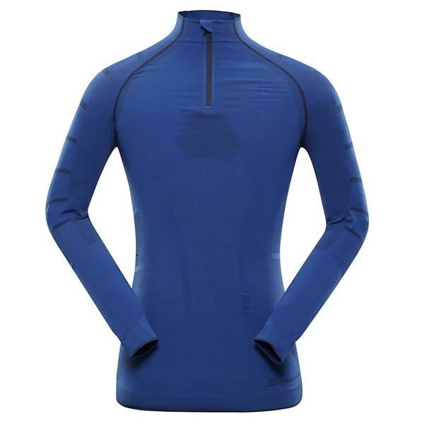 Modré pánské funkční tričko Alpine Pro - velikost XS-S
