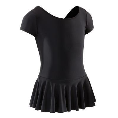 Černý dívčí baletní trikot se sukní Domyos