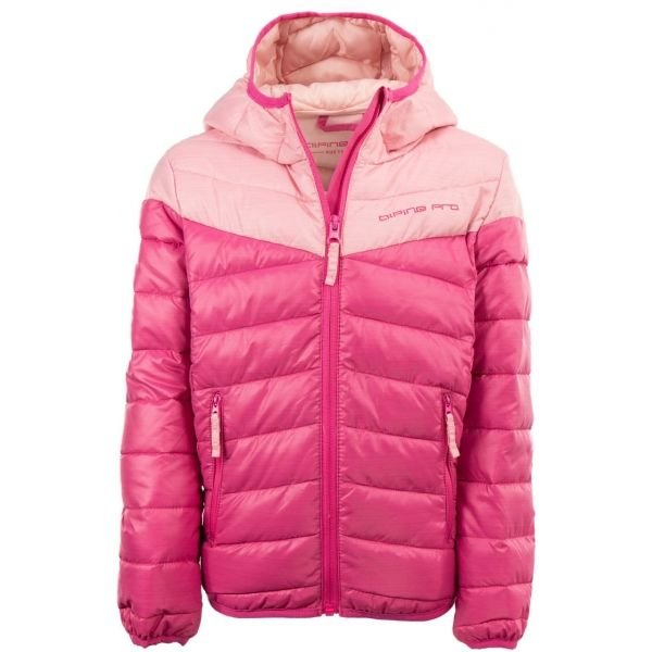 Růžová dívčí bunda Alpine Pro