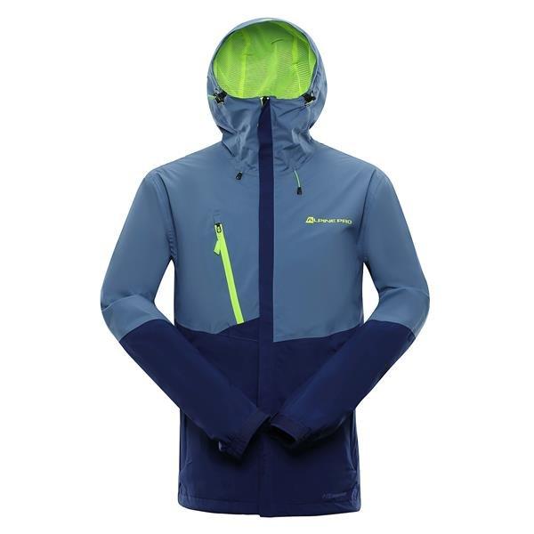 Modrá nepromokavá pánská bunda s kapucí Alpine Pro - velikost 3XL
