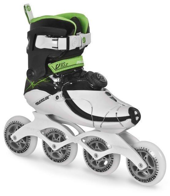 Bílé speedové dámské nebo pánské kolečkové brusle Powerslide - velikost 32-33 EU