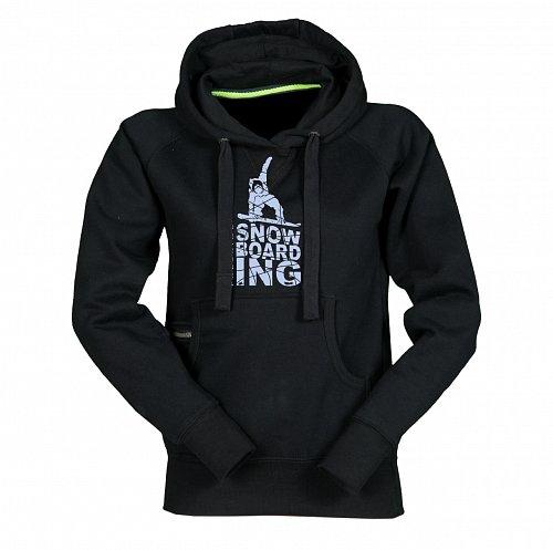 Černá dámská lyžařská mikina s kapucí Sportinator