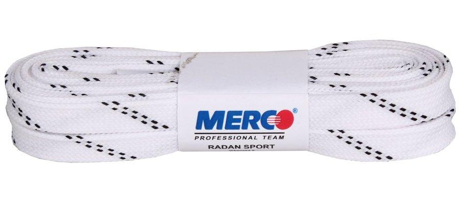 Bílé tkaničky do hokejových bruslí Merco - délka 240 cm