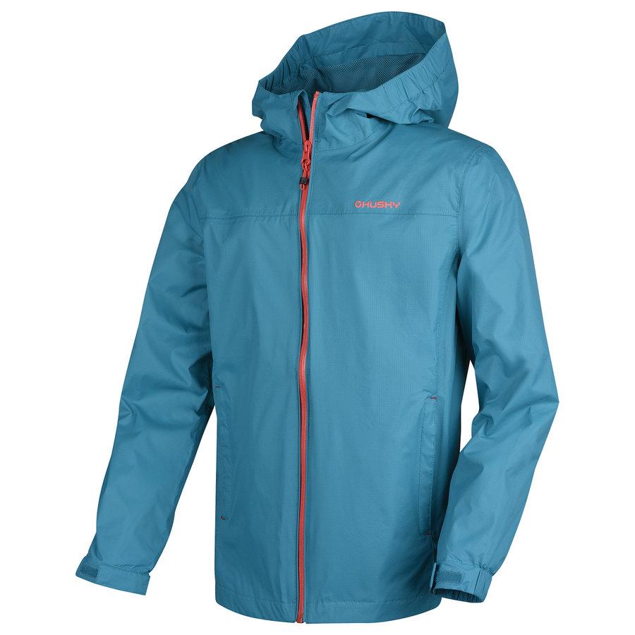 Modrá dětská turistická bunda Husky - velikost 140