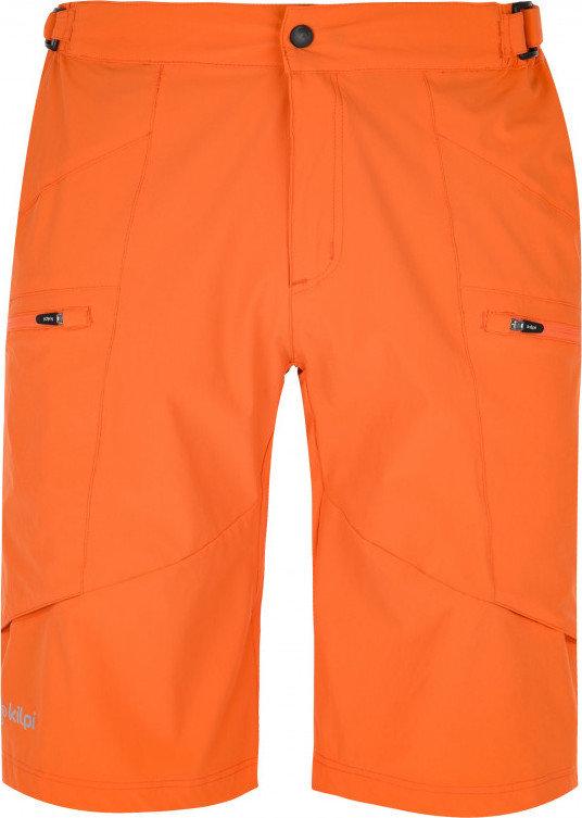 Oranžové pánské cyklistické kraťasy s vložkou Kilpi - velikost XS
