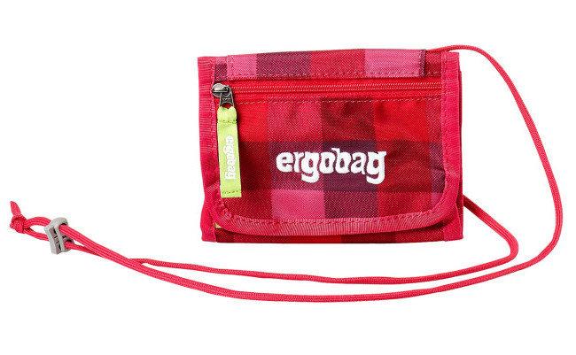Peněženka - Ergobag Peněženka purpurová károvaná