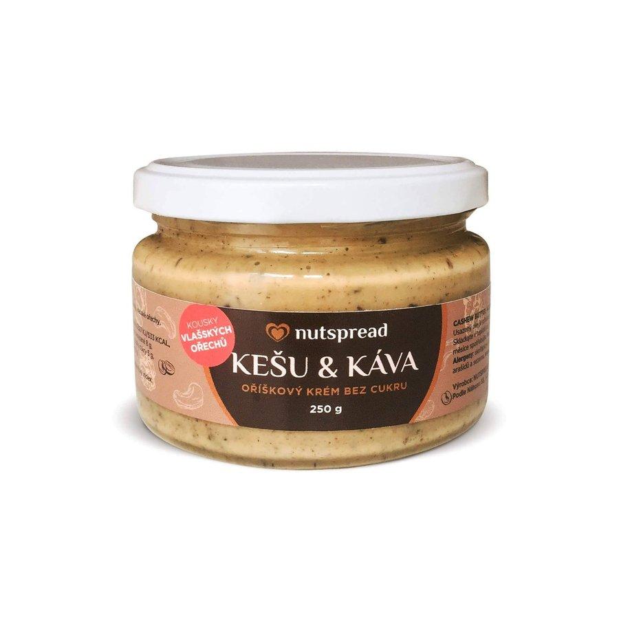 Máslo - Nutspread Kešu máslo s kávou a vlašskými ořechy 250 g