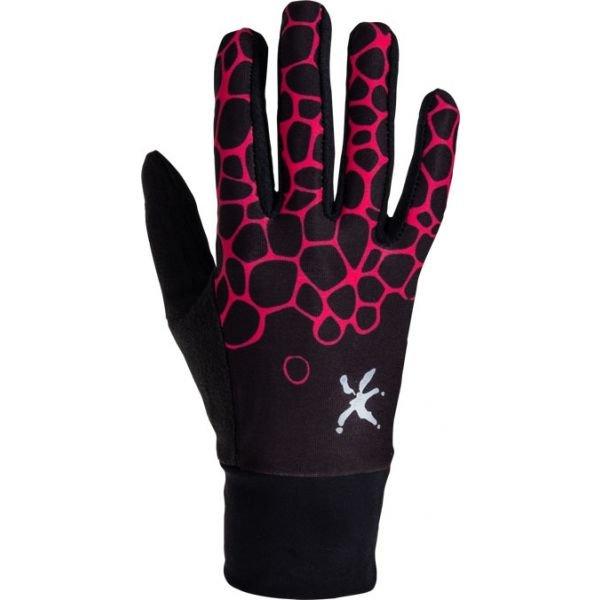 Černé dámské rukavice na běžky Klimatex - velikost S