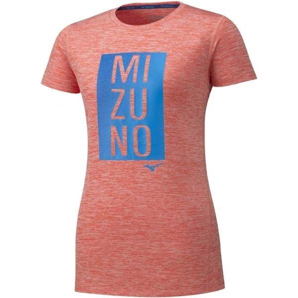 Růžové dámské běžecké tričko Mizuno