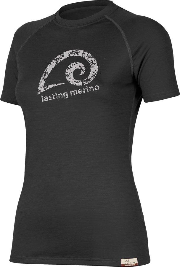 Černé dámské tričko s krátkým rukávem Lasting - velikost L